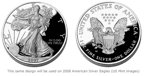 The 2008 American Eagle Silver Proof Coin will go on sale by the United States Mint on Jan. 3.