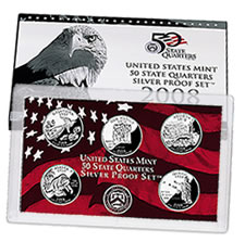2008 U.S. Mint State Quarter Silver Proof Set