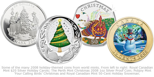 2008 World Mint Holiday Themed Coins