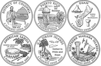 2009 Quarter Design Images for District of Columbia and US Territories