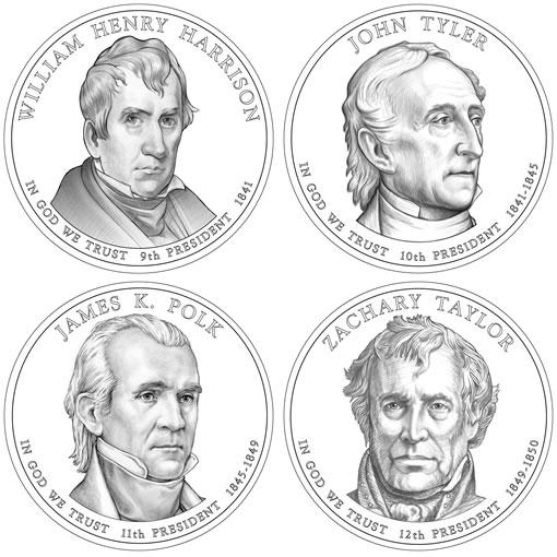 2009 Presidential $1 Dollar Coin Design Images