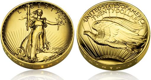2009 Ultra High Relief Double Eagle Gold Barren Und Münzen Zur