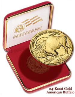 United States Mint 24-Karat Gold American Buffalo 2008 Celebration Coin