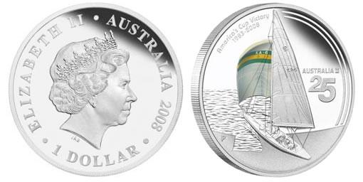 Australia II 25th Anniversary Commemorative Silver Coin