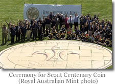 Australian Ceremony for Scout Centenary Coin