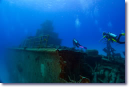 Divers Searching Shipwreck Site