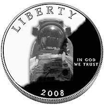NASA commemorative coin symbol