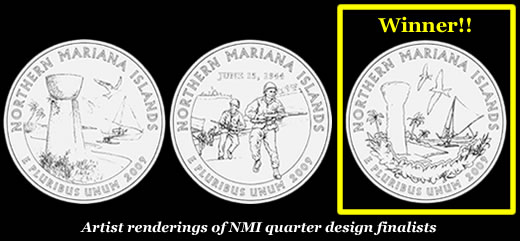 Northern Mariana Islands (CNMI) Commemorative Quarter Designs and winner