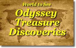 Odyssey over world treasure map