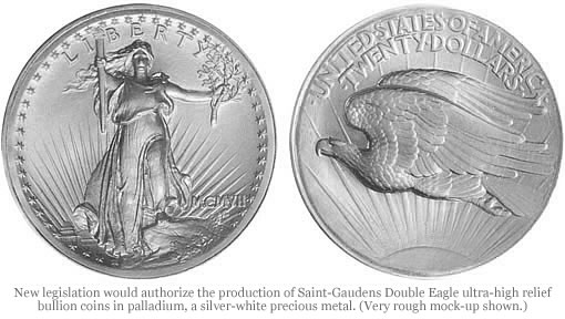 Palladium Saint-Gaudens Double Eagle ultra-high
