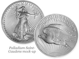 Palladium Saint-Gaudens mock-up