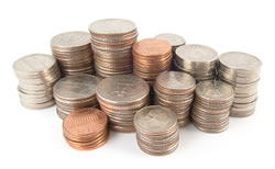 Stack of U.S. coins