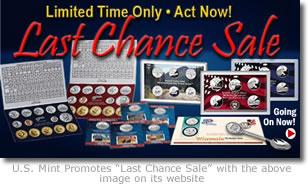 US Mint Last Chance Sale Promotion Image