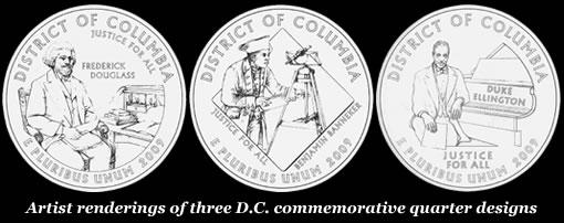 Washington DC Quarter Designs