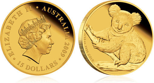 2009 Australian Koala Gold Proof Coin