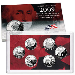 2009 DC & US Territories Silver Proof Set