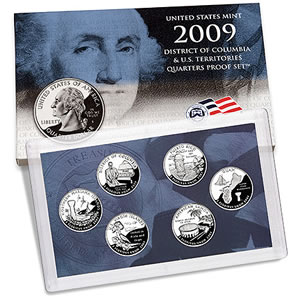 United States Mint 2009 District of Columbia & U.S. Territories Quarters Proof Set