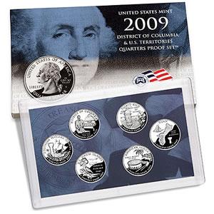 United States Mint 2009 District of Columbia & U.S. Territories Quarters Proof Set