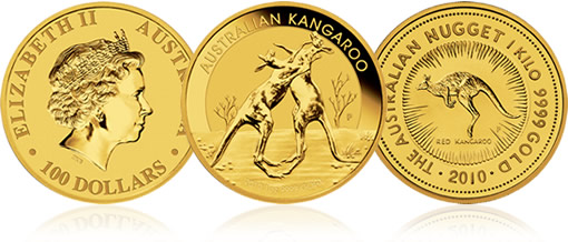 2010 Australian Kangaroo Gold Bullion Coins