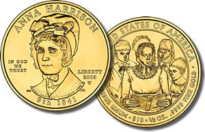 Anna Harrison First Spouse Gold Coin