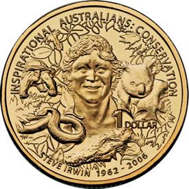 Inspirational Australian Steve Irwin $1 Coin