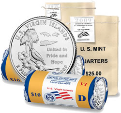 US Virgin Islands Quarter Bags and Rolls