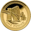 25th Anniversary £1 Gold Forth Railway Bridge