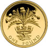 25th Anniversary £1 Gold Proof Thistle