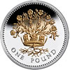 25th Anniversary £1 Silver Proof Flax Plant