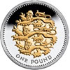 25th Anniversary £1 Silver Three Lions