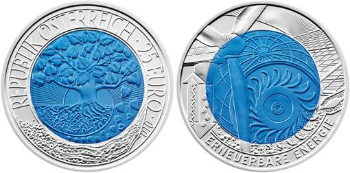 Austrian Renewable Energy Bimetallic Coin
