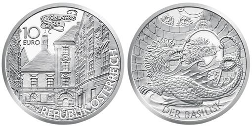 Basilisk Silver Coin from Austrian Mint