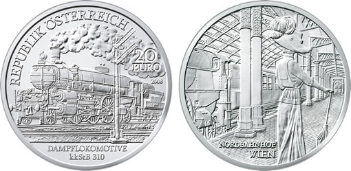 "Austrian Railways Third Silver Commemorative Coin, the ""Belle Époque"""