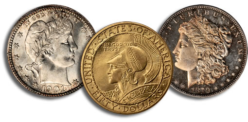 Trio of Exceptional Coin Rarities