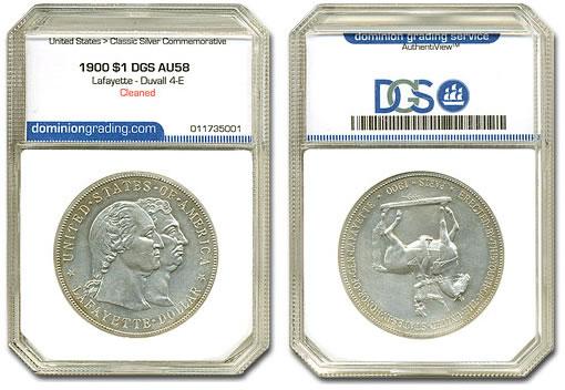 1900 $1 Lafayette Duvall 4-E Variety