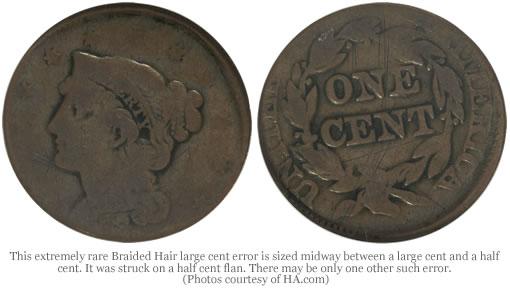 Braided Hair large cent error