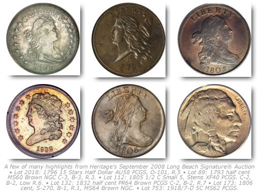 Coin Highlights from Heritage's September 2008 Long Beach Signature® Auction