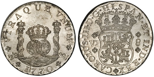 Colombian 1770 Pillar Dollar