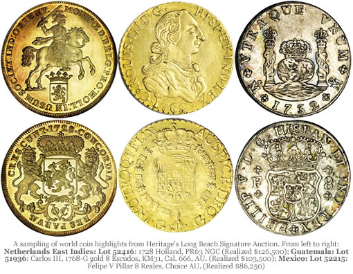 Heritage Long Beach Auction - World Coins, Highlights and Prices Realized