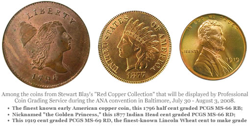 "Coins from Stewart Blay's ""Red Copper Collection"""