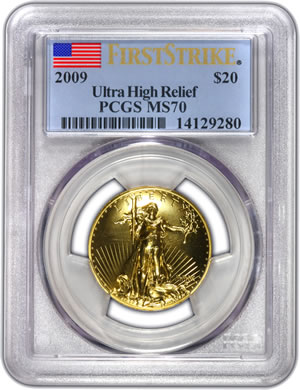 First PCGS Graded 2009 Ultra High Relief $20 Double Eagle