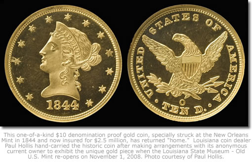 1844-O proof Eagle gold coin