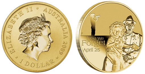 Australia First Annual ANZAC $1 Coin