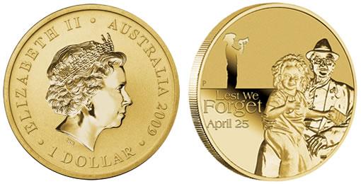 Australia First Annual ANZAC $1 Coin