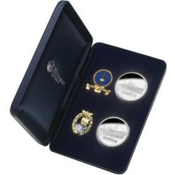 HMAS Sydney II Coin, Medallion and Badge Set