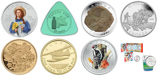 Royal Canadian Mint 2008-Commemorative Coins