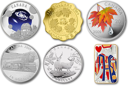 Royal Canadian Mint 2009 Collector Coins - Third Product Releases