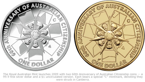 2009 Coins for 60th Anniversary of Australian Citizenship