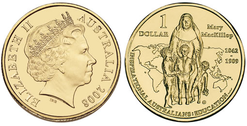 Mary MacKillop Australian Saint Commemorated on $1 Coin