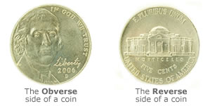 Obverse and Reverse coin sides